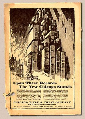 Upon these records a new Chicago stands